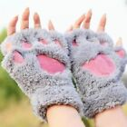 Cute Women Winter Fluffy Bear/Cat Plush Paw/Claw Glove-Novelty soft towel Gloves