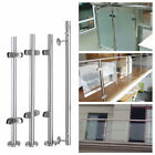 Stainless Steel Balustrade Posts Grade 304 Glass Clamps Rubbers End Caps w/ Box