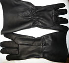 "GLOVES #7998 5"" Cuff Renaissance SCA Musketeer Sword Black Pirate Leather Larp"
