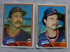 1981 Topps Cleveland Indians Baseball Card Pick One on Ebay