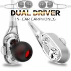 Sports Dual Driver Stereo Super Bass Headset In-Ear Earphones Headphones Earbuds