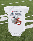 New England Patriots Onesie Shirt Helmet Design Love To Watch With Mommy on eBay