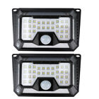 42/66/86/136 LED Solar Light 4Side PIR Motion Sensor Wall Lamp 3 Mode Waterproof