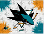 NHL - San Jose Sharks Logo Canvas Hockey Team Logo $59.0 USD on eBay