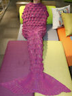 US Mermaid Tail Crocheted Sofa Snuggie Blanket Carpet Knit Soft Warm Adult Child