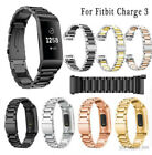 Fr Fitbit Charge 3/4 SE Bands,Stainless Steel Bracelet Metal Watch Wrist Band US image