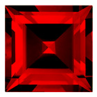 Real Russian Synthetic Lab Ruby AAAA Square Loose Gem (2mm - 8mm)