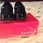 rasolli Ladies black patent shoes size 7  gentley used with box , some wear