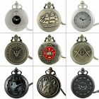 Steampunk Vintage Pocket Watch Quartz Antique Necklace Pendant Chain Gift Retro image