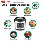 20 Cup Cooked (10 cup uncooked) Digital Rice Cooker, Slow Cooke' Food Steamer