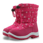 Kids Girls Boys Waterproof Snow Boots Winter Warm Mid-Calf Boots Shoes