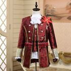 Medieval Mens Uniform Jacket Pant Full Set Men King Prince Cosplay Party Costume