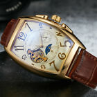 Men's Luxury Self-wind Mechanical Stainless Steel Leather Wrist Watch Gift Box image