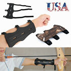 Archery Arm Guard Leather 3 Strap Shoot Recurve Bow String Safety Gear USA