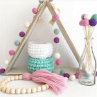 1Pc Wool Felt Balls Pom Pom Garland Ornament Kids Room Nursery Wall Hanging Home
