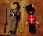 Carlson CSA soldier w/rifle & bacpack and British Grenadier doll
