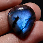 Gigantic Natural Madagacar Blue Flame Labradorite Pear Gemstone Loose Cabochon A