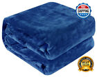 Heavy Blanket Aqua Mink Woven Ultra Soft Sensory Thick Plush Queen Size image