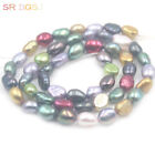 """Jewelry Making Freeform Freshwater Multicolor Pearl Beads Strand 15"""" 5x7mm"""