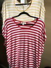 2 Ladies Mochael Kors Tunic Shirts Stripes Large
