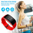 Wireless Bluetooth Smart Watch Activity Tracker Bracelet With Heart Rate Sensor