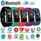 Sports Health Smart Bracelet Watch Foot Step Blood Pressure Monitor Heart Rate