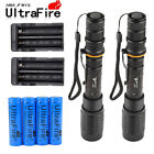 2Sets 90000LM Adjustable 5Modes T6 LED Flashlight 18650 Battery Charger New