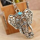 Womens Silver Necklace Elephant Pendant Boho Tibetan Ethnic Jewellery Gift Ideas