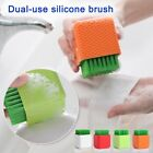Plastic Silicone Brush Scrubber Cleaning Supplies Tool for Laundry Body Wash