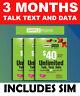 Simple Mobile SIM CARD > 3 MONTHS SERVICE $40 PLAN <  10gB 4g data per month