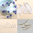 Lots Silver Gold Plate Curved Smooth Tube Bead Loose Charm Jewelry DIY Making