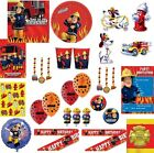Child FIREMAN SAM Party Items Cups Napkins Balloons BIRTHDAY Party Decorations