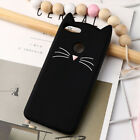 Cute 3D Beard Soft Silicone Cat Case Cover For Huawei Y6 Y3 Y5 Y7 Y9 Honor 7X 6X