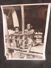 Orig Iconic Vietnam War Press Photo USIS Vietnamese Family Man & Children 10x8