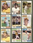 1974 Topps Winfied Rookies Schmidt Killebrew Jackson And More Stars