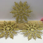 Lot Glitter Snowflakes Decorations Xmas Tree Hanging Party DIY Winter Ornaments