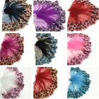 Peacock Tulle Lace Trim Ribbon Embroidery Feather Wedding Fabric Sewing DIY