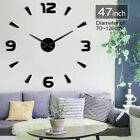 Arabic Numerals Giant DIY Large Frameless Wall Clock Wall Watch Great Decor Gift