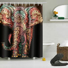 US Ship African Woman Valentine Barn Cowboy Waterproof Fabric Shower Curtain Set