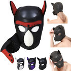 4 Color Sexy Cosplay Role Play Dog Full Head Mask Soft Padded Latex Puppy Mask