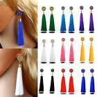 Vintage Boho Long Tassel Earrings Long Dangle Thread Tassle Earring Women Gift image