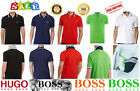 NEW Hugo BOSS Mens T-Shirt Polo collar Short Sleeve 100% Cotton Jackuard collar