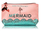 Bath Body Works Signs you could be a MERMAID Makup Cosmetic Bag 2018 NWT Pink