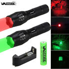 VASTFIRE 350 yard Zoomable Green/Red Light Flashlight Hunting Torch Light Lamp