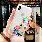 Dynamic Liquid Quicksand Cute Apps Icon Emoji Cover Case For iPhone Xs Max Xr Xs <br/> Apps Icon Emoji Dynamic Liquid Case, USA Fast Shipping