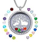 Lockets Necklace DIY Family Tree of Life Floating Charm Living Memory Gift