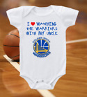 Golden State Warriors Onesie Shirt Bodysuit Love Watching With My Uncle on eBay
