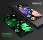 For iPhone 6 6s 8 X Plus TPU Luminous Phone Cases Protect Moon Soft Back Cover