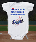 Los Angeles Dodgers Onesie Shirt  Love To Watch With Grandpa on Ebay