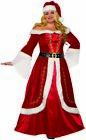 Premium Mrs. Claus Adult Costume Fancy Dress Red Christmas Women's Plus Size